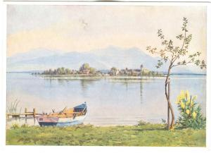Max Martens, Fraueninsel im Chiemsee, unused Postcard