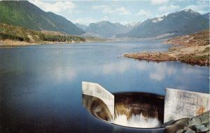 SULTAN WASHINGTON SPADA LAKE~CULMBACK DAM~MORNING GLORY SPILLWAY POSTCARD 1960s