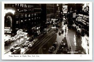 Saint-Mandé FR* New York City~Claudette Colbert Marquee~Bluebeard Wife~1945 RPPC