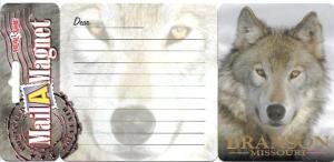 Mail-A-Magnet.  Wolf.  Branson, Missouri