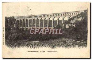 Old Postcard Roquefavour Aqueduct