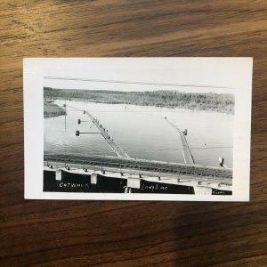 LONG LAC Catwalk Below US 50 Bridge Fishing Vtg PC