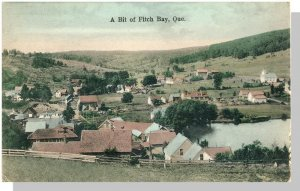 Fitch Bay, Quebec, Canada Postcard, Cottages On River
