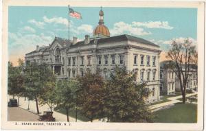 State House, Trenton, NJ, 1910s unused Postcard