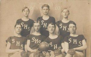RP: SABETHA, Kansas , 1907 ; High School Basketball Team