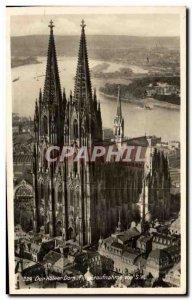 Postcard Old Der Kolner Dorn Fliegeraufriahme von S W