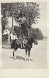 RP: PIKES PEAK RODEO , Colorado , 1910s World's Youngest cowboy