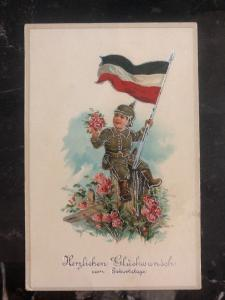 Mint Germany Happy Birthday Patriotic  Picture Postcard WWI
