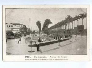 192131 BRAZIL RIO de JANEIRO Avenue do Manque Vintage postcard