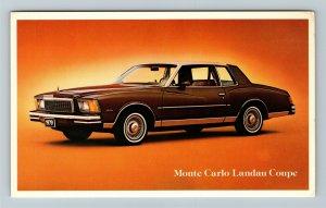 Chevrolet Monte Carlo Landau Coupe Automobile Chrome Postcard