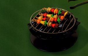 Garden Barbeque Cooking Cookery Garden Grill Lego Toy Display Postcard