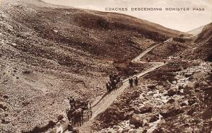 Lake District, Coaches Descending Honister Pass Carriages Road