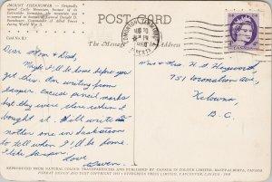 Mount Eisenhower Alberta AB Castle Mountain Vintage c1960 Postcard F44