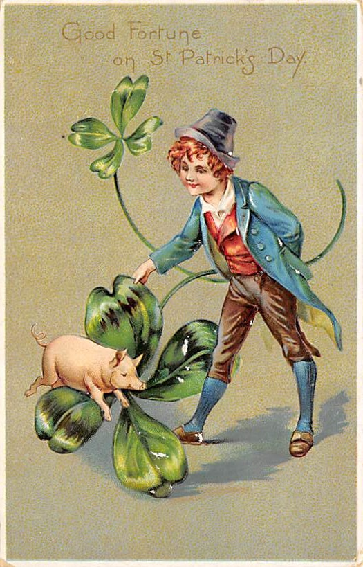 Lo Store United Nude Ad Amsterdam : Good fortune saint patrick s day post card hippostcard