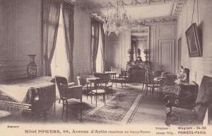 Hotel POWERS , Paris , France, 1900-1910s ; Salon