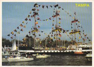 Gasparilla Fiesta with Pirate Ship Tampa Florida