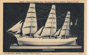 NEWPORT NEWS, Virginia, 1900-1910's; The Mariners' Museum, Model Of Steel Ful...