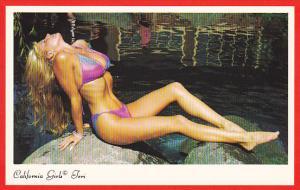 Risque Semi-Nude Girl In Bikini California Girl Teri