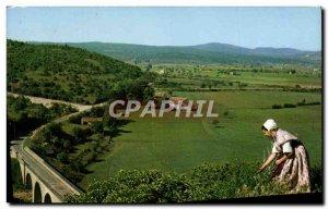 Postcard Modern Belles Images De Provence Vallee De La Croc And The Bridge to...