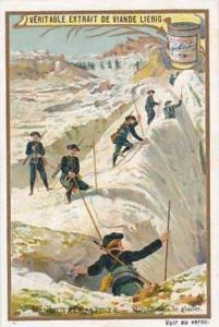 LIebig Vintage Trade Card 1903 French Alpine Troops On Manoeuvres S738 Marche...