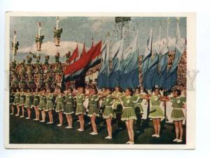 132703 USSR 1955 All-Union Sports parade athletes in Moscow