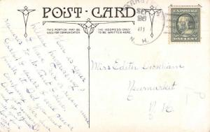 Barnstead New Hampshire Cancel Broken Knife Friendship Greetings PC JD228025