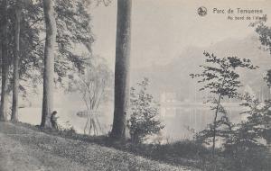 Parc de Tervueren Child Reading At Tree Belgium Old Postcard