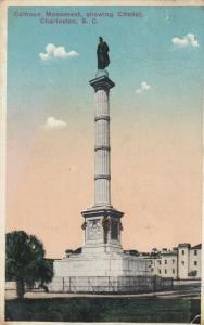 CHARLESTON , South Carolina , 1917 ; Calhoun Monument & Citadel
