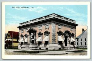 Oskaloosa Iowa~Beaux Art Post Office~Arch Doorways & Awesome Awnings~1920s