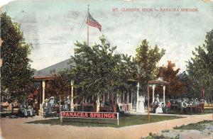 Mt Clemens Michigan~Panacea Springs~Victorian People @ Pavilion~1909 Pc