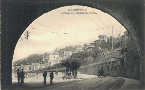 Spain San Sebastian Miraconcha Desde El Tunel 02.13