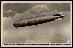 Germany Graf Zeppelin Airship Weltfahrt Round the World Trip  RPPC 68736
