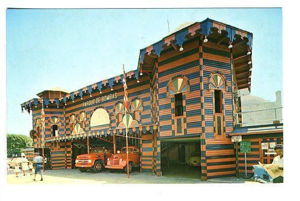 Ponce Puerto Rico Fire Engines House Parque De Bombas VW Postcard