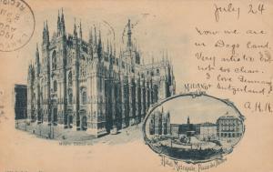 MILANO (Milan) , Italy , 1900; Milano Cattedrale & Hotel Metropole