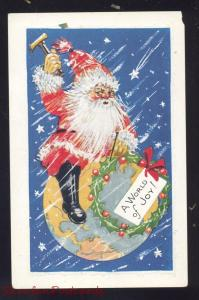 A WORLD OF JOY SANTA CLAUS ON EARTH ANTIQUE VINTAGE POSTCARD