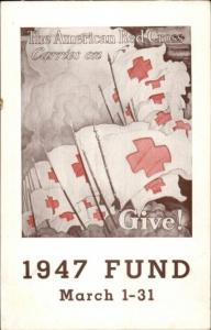 American Red Cross Washington DC Pennsylvania Railroad 1947 Fund Postcard