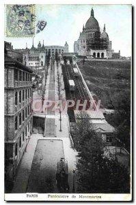 Postcard Old Paris Montmartre Funicular