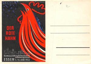 Der Rote Hahn, The Red Rooster! Essen 1953 Exhibition for Fire Protection 1952