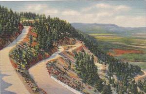 Colorado Colorado Springs Broadmoor-Cheyenne Mountain Highway Curteich