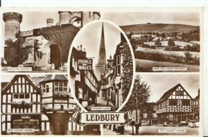 Herefordshire Postcard - Views of Ledbury - Real Photograph - Ref 18725A