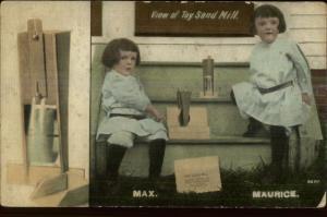 Kids - Wooden Toy Sand Mill Samuel Buffum & Co North Berwick ME Postcard