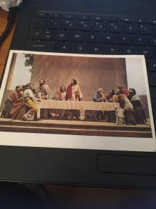 Vtg Postcard: Abendmahl , Germany