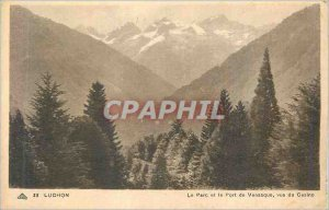 Old Postcard Luchon Park and the Port of Venasque Views Casino