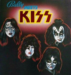 Kiss Pinball FLYER Original Bally 1979 Foldout Artwork Sheet Hard Rock Music