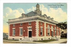 Post Office  , Greenwood, South Carolina, PU-1912
