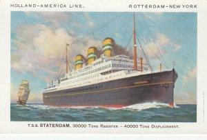 Holland-America Line Ocean Liner  S.S.Statendam , 1930s