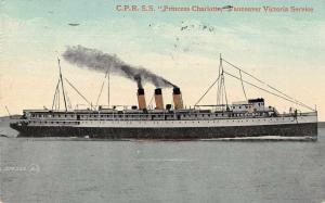 CRP SS Princess Charlotte Vancouver Victoria Service Antique Postcard J79250
