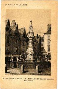 CPA TOURS-La Fontaine du Grand-Marche (266360)
