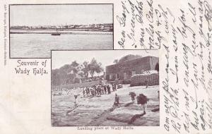 Wady Halfa Sudan Antique Postcard