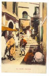 Rue Arabe, Stairs, Alger, Algeria, Africa, 1900-1910s